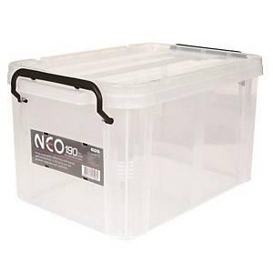 COMAX N19 PLASTIC STORAGE BOX 19L TRANSP