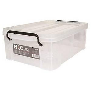 COMAX N22 PLASTIC STORAGE BOX 22L TRANSP