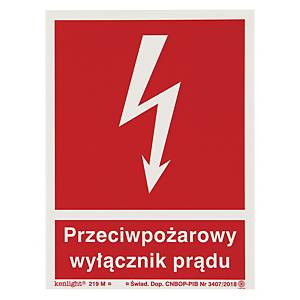 ELECTRICITY SWITCH SIGN ISO 150X200MM
