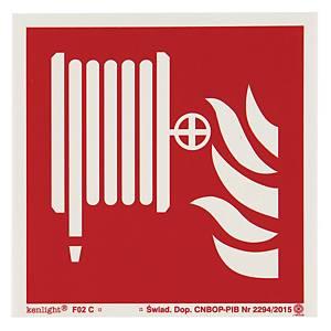 Znak  Hydrant wewnętrzny , 150 x 150 (mm)