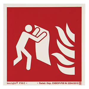 FIRE BLANKET SIGN ISO 150X150MM
