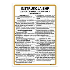 SAFETY INSTRUCTION WAREHOUSE 250X300MM