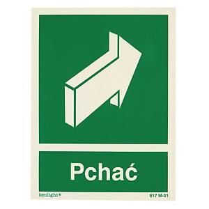 Znak ewakuacyjny  Pchać , 150 x 200 (mm)