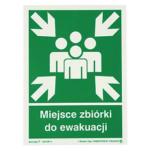 MEETING POINT EVACUATION SIGN 270X270MM