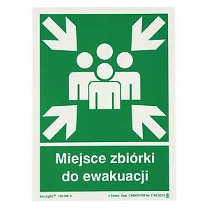 Znak ewakuacyjny  Miejsce zbiórki do ewakuacji , 270 x 200 (mm)