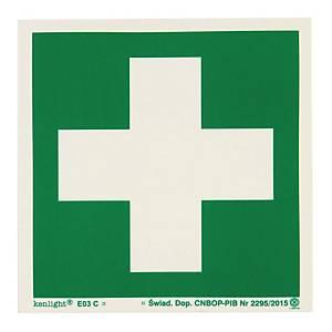 Znak  Pierwsza pomoc medyczna , 150 x 150 (mm)