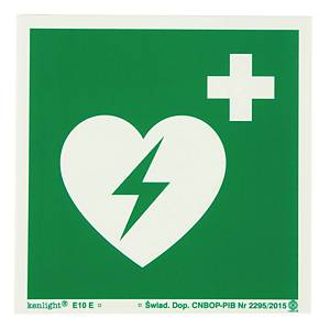 AED SIGN 200X200MM