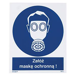 USE HALFMASK SIGN 225X275MM