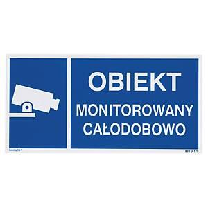 Znak  Obiekt monitorowany , 150 x 300 (mm)