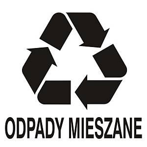 Znak informacyjny  Odpady mieszane  150 x 150 (mm)