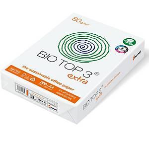 Kopierpapier Bio Top 3 Extra A4, 80 g/m2, weiss, Pack à 500 Blatt