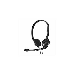 Auricular Sennheiser PC 3 CHAT - biaural - jack 3.5 mm - 2 m