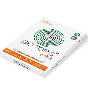 Kopierpapier Bio Top 3 Extra A3, 80 g/m2, FSC, Packung à 500 Blatt