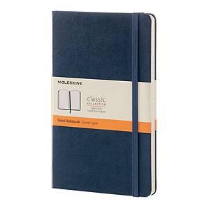 Notes Moleskine w twardej, szafirowej oprawie, rozmiar L, 240 stron w linie*