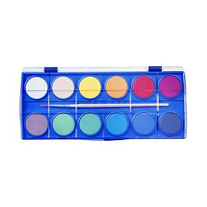 SPOKO 0341 vízfesték, 12 szín + ecset