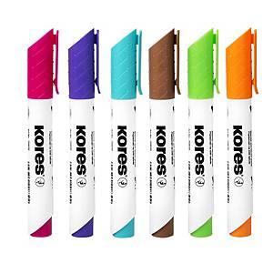 KORES fehértábla marker, 6 szín