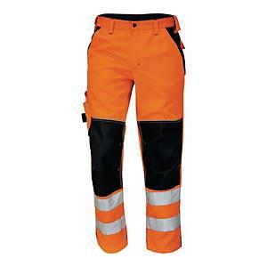 Spodnie ostrzegawcze CERVA Knoxfield HI-VIS, pomarańczowe, rozmiar 48