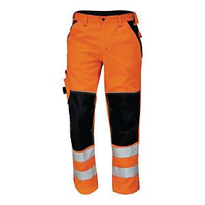 Spodnie ostrzegawcze CERVA Knoxfield HI-VIS, pomarańczowe, rozmiar 52