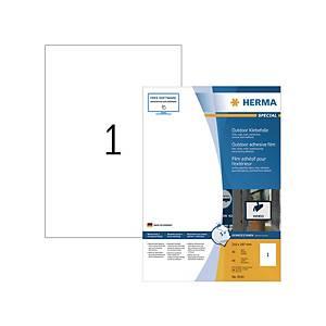 Wetterfeste Etiketten Herma 9543, 210 x 297mm (LxB), weiß, stark haftend, 40 St