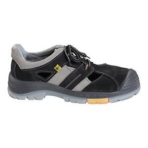 Sandały PPO 701 S1 ESD SRC, czarno-szare, rozmiar 46