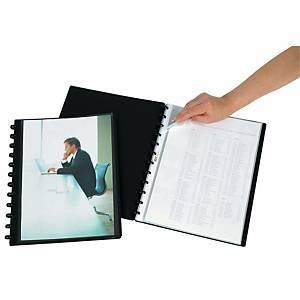 Sichtbuch Personal-Ex Adoc System 5232 A4, 30 Taschen, schwarz