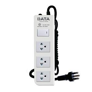 DATA DT3118M EXTENSION CABLE 3 SOCKETS 1 SWITCH 3 METERS