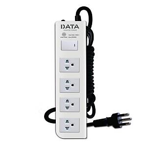 DATA DT4118M EXTENSION CABLE 4 SOCKETS 1 SWITCH 5 METERS