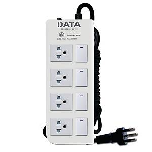 DATA DT4418M EXTENSION CABLE 4 SOCKETS 4 SWITCHES 3 METERS