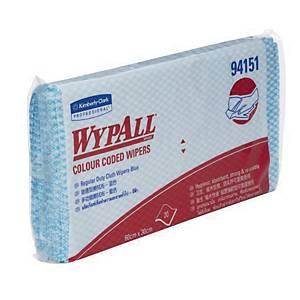 WYPALL ผ้าเช็ดทำความสะอาด แบบจำแนกสี สีฟ้า แพ็ค 20 ผืน
