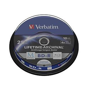 Verbatim M-Disc BD-R 4X Spindle 25Gb - Pack of 10