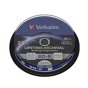 Verbatim M-Disc BD-R 4X Spindle 25Gb - Pack of 10