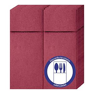 PK50 CLARINA NAPKIN FOR CUTERLY MAROON