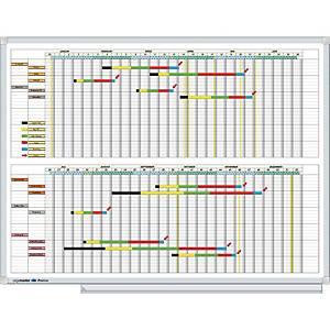 Planificateur annuel Legamaster Professional, mois l'un sous l'autre, 90x120 cm