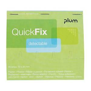 Wkład plastrów wykrywalnych do dozownika PLUM QuickFix, roz. 72x25 mm, 45 sztuk