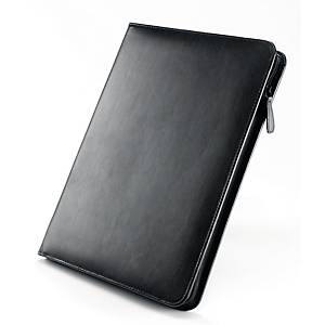 Falcon Leather Zip Folder With Calculator A4