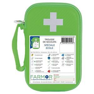 Trousse de secours spéciale école - 2/4 personnes - vert fluo