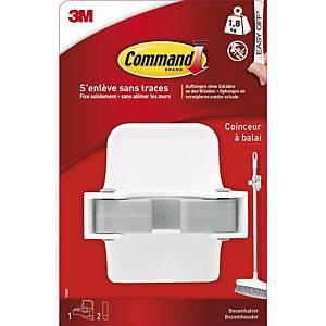 Support pour balai 3M™ CommandTM, 1,8 kg max, 1 crochet et 2 bandes par paquet
