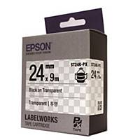 EPSON ST24K-PX TAPE 6MM TRANSP/BLK