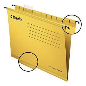 Teczka zawieszkowa Esselte Pendaflex żółta, opakowanie 25 sztuk