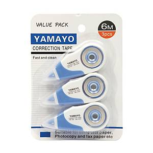 YAMAYO เทปลบคำผิด YM-230-3 5มม.X6ม. แพ็ค 3ชิ้น