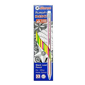 HORSE H-2547 WOODEN PENCIL ASSORTED COLOURS - BOX OF 12