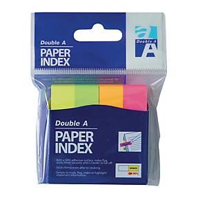 DOUBLE A แถบอินเด็กซ์กระดาษ รุ่น PI131211 50X12 มิลลิเมตร สีนีออน