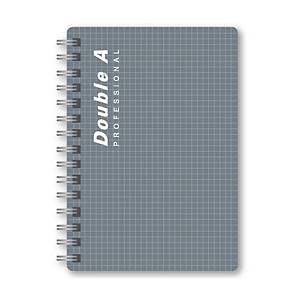 DOUBLE A สมุดบันทึกสันห่วง PROFESSIONAL A5 70แกรม 100แผ่น  สีเทา