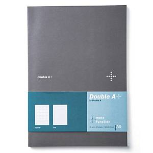 DOUBLE A สมุดบันทึกแพลนเนอร์ DA+ A5 80แกรม 40แผ่น สีเทา
