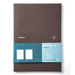 DOUBLE A สมุดบันทึกแพลนเนอร์ DA+ A5 80แกรม 40แผ่น สีน้ำตาล