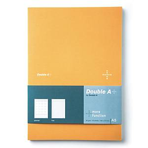 DOUBLE A สมุดบันทึกแพลนเนอร์ DA+ A5 80แกรม 40แผ่น สีเหลือง
