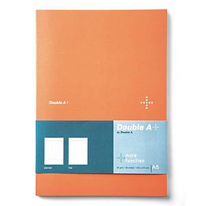 DOUBLE A DA PLUS PLANNER NOTEBOOK A5 80GRAMS 40SHEETS ORANGE