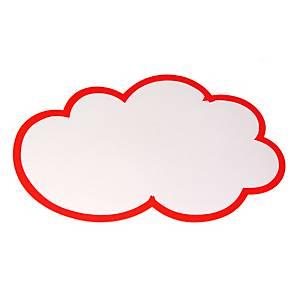 Moderationskarten OTC M311, Wolke, 250x420mm, 130g, weiß mit rotem Rand, 20 St.