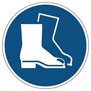 Pictogramme de marquage au sol - chaussures de sécurité obligatoires