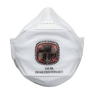 Masque pliable jetable JSP Springfit FFP3 - avec soupape - par 10